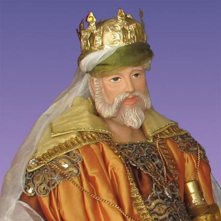 life size indoor King Melchior figurine