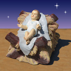 Nativity baby Jesus