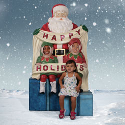Santa with Elves Photo Op