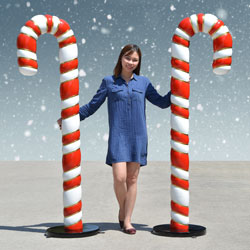 6 foot Candy Canes