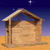 "View: 53"" Wood Outdoor Nativity Stable"