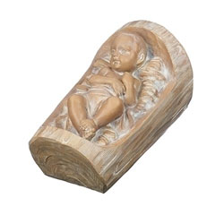 Baby Jesus in Wood Carved Holy Family set