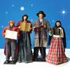 "View: Caroling Family in fabric and resin - 52"" scale"