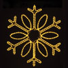 View: LED Rope Light Snowflake 18 inch Warm White