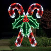 View: Giant Crossed Candy Canes LED Light Display 8.3 ft. H