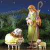 "View: Patience Brewster Nativity Set Shepherd, Ewe, and Lamb - 10"" scale (8.5""H)"