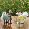 "View: Patience Brewster Nativity Set Manger Donkey and Goat - 10"" scale (5""H)"