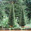 "View: Sisal Elf Trees 15""H and 12""H"