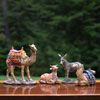 "View: Real Life Small Donkey, Ox, Sitting and Standing Camels 10"" scale"