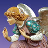 "Fontanini Kneeling Angel 50"" scale Masterpiece Nativity"