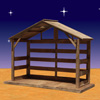"View: Wood Outdoor Nativity Stable 70""H"